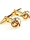 Golden Cufflinks Alloy Work / Casual Men\'s Costume Jewelry For