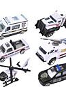 dibang - nowa seria policji stopu zabawki modelu samochodu policji samochodu zabawki dla dzieci (6szt)
