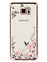 For Samsung Galaxy Note Rhinestone / Plating / Transparent / Pattern Case Back Cover Case Flower TPU Samsung Note 5 / Note 4 / Note 3