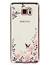 용 Samsung Galaxy Note 크리스탈 / 도금 / 투명 / 패턴 케이스 뒷면 커버 케이스 꽃장식 TPU Samsung Note 5 / Note 4 / Note 3