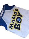 Cachorro Camiseta Roupas para Caes Carta e Numero Branco / azul Algodao Ocasioes Especiais Para animais de estimacao