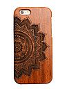147 iPhone 5 Case Case Cover Embossed Back Cover Case Mandala Hard Wooden for Apple iPhone SE/5s iPhone 5