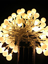 5m String Lights 40 LEDs Dip Led Warm White / RGB / White Rechargeable / Waterproof 100-240 V / IP65