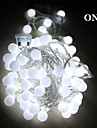 String Lights 50 LEDs Warm White RGB White Rechargeable Waterproof 100-240V