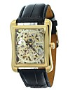 WINNER® Men\'s Watch Auto-Mechanical Square Gold Dial Hollow Engraving Cool Watch Unique Watch Fashion Watch
