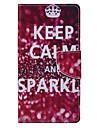 Для Кейс для Huawei / P9 Lite / P8 Lite Кошелек / Бумажник для карт / со стендом Кейс для Чехол Кейс для Слова / выражения Мягкий