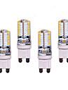 G9 Двухштырьковые LED лампы T 64 светодиоды SMD 3014 550lm Тёплый белый Холодный белый Декоративная AC 220-240