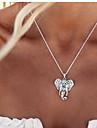 Femme Pendentif de collier - Elephant, Animal Retro, Mode, Style Folk Mignon Argent Colliers Tendance Bijoux Pour Soiree, Quotidien, Decontracte
