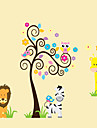 Декоративные наклейки на стены - Простые наклейки Животные / Натюрморт / Мода Гостиная / Спальня / Столовая / Съемная