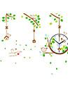 Moderne/Contemporain Traditionnel Decontracte Retro Bureau / Affaires Fleurs / Botaniques Animaux Famille Dessin anime Horloge murale,