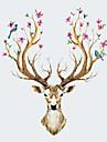 Животные Наклейки Простые наклейки Декоративные наклейки на стены,PVC материал Съемная Украшение дома Наклейка на стену