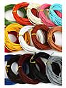 beadia 5 mts 2mm cordon rond de cuir; cabler; string (15 couleurs)