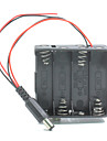 Dual Output 8*AA Batteries Holder Case w/ Power Plug for Arduino
