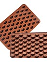 1 pc 55 Holes Coffee Bean Shape Chocolate Mold Silicone 3D Coffee Beans Chocolate Mold Non-Stick  Cake Mold
