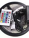 5м 16.4ft водонепроницаемый 300x5630 RGB SMD светодиодные гибкие светодиодные полосы света +24 ключ ИК 12v 2a питания AC100-240V