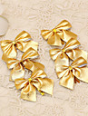 12pcs Merry Christmas Tree Decoration Gold Bowknot Style Flower Cane Ornament Banquet Prom Supplies