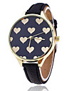 Women\'s Quartz Wrist Watch / Hot Sale Leather Band Heart shape Casual Fashion Black White