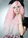 Femme Perruque Synthetique Tres long Ondulation Prononcee Rose Perruque de carnaval Perruque de Cosplay Perruque Halloween Perruque