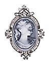 женские моды Диаманте кристалл серебра антиквариата год сбора винограда броши булавки ювелирных королева стразы партии броши