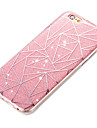 Capinha Para Apple iPhone 6 iPhone 6 Plus Antichoque IMD Capa traseira Estampa Geometrica Rigida Acrilico para iPhone 6s Plus iPhone 6s