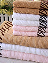 Serviette de bain,Jacquard Haute qualite 100% Fibre de bambou Serviette