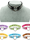 Women\'s Choker Necklaces Collar Necklace Circle Heart Leather Rhinestone Silver Plated Imitation Diamond Alloy Love Sexy Fashion Vintage