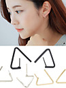 Earring Geometric / Triangle Shape Stud Earrings Jewelry Women / Men Fashion Wedding / Daily / Casual Alloy 1 pair Gold / Silver