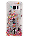 Case For Samsung Galaxy Samsung Galaxy S7 Edge Flowing Liquid Transparent Pattern Back Cover Sexy Lady Hard PC for S7 edge S7