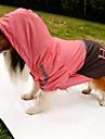 개 레인 코트 강아지 의류 여름 모든계절/가을 문자와 숫자 방수 오렌지 옐로우 그린 핑크