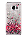 Love Pattern Flowing Quicksand Liquid Glitter Plastic PC For Samsung Galaxy S7 edge Galaxy S7 S8 PLUS S8