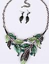 Women\'s Crystal Cute Jewelry Set Earrings / Necklace - Vintage / Party / Work Purple / Green / Blue Necklace / Earrings For Wedding /