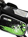WOSAWE Bolsa Celular Bolsa para Quadro de Bicicleta 6 polegada Prova-de-Agua Reflector A Prova-de-Chuva Ziper a Prova-de-Agua Vestivel