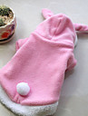 Dog Costume / Clothes/Clothing Red / Pink Winter Solid Cosplay, Dog Clothes / Dog Clothing