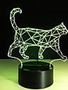 1 piece Veilleuse 3D Telecommande Vision nocturne Petit Couleurs changeantes Artistique LED Moderne/Contemporain