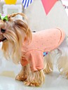 Кошка Собака Футболка Пижамы Одежда для собак Однотонный Зеленый Синий Розовый Хлопок Костюм Для домашних животных Муж. Жен.