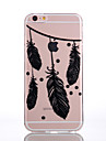 Case For Apple iPhone 6 iPhone 7 Plus iPhone 7 Transparent Pattern Embossed Back Cover Feathers Soft TPU for iPhone 7 Plus iPhone 7