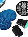 12 pcs Stamping Plate Template Nail Art Design Fashionable Design Stylish / Fashion Daily / Metal