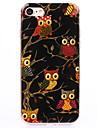 TPU  IMD Material More Black Owl Pattern Powder Phone Case for iPhone 7 Plus/7/6s Plus / 6 Plus/6S/6/SE / 5s/5/5C