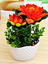 Flores Artificiales 1 Rama Estilo Simple Loto Flor de Mesa