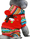 Dog Coat Hoodie Dog Clothes Keep Warm Christmas Color Block Red Green Costume For Pets