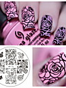 1 pcs Stamping Plate Template Fashionable Design nail art Manicure Pedicure Stylish / Fashion Daily / Steel