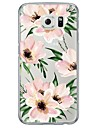 Pour Samsung Galaxy S7 Edge Ultrafine / Translucide Coque Coque Arriere Coque Fleur Flexible TPU SamsungS7 edge / S7 / S6 edge plus / S6