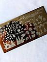 1шт рождественские поделки печать изображения Стампер пластины шаблон маникюра Nail Art штамповка трансферная печать инструмент