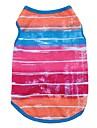 Chat Chien Tee-shirt Gilet Vetements pour Chien Rayure Rouge Rose Bleu Coton Costume Pour les animaux domestiques Homme Femme Mignon