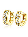lureme Fine Jewelry 18K Gold Fashion Charms Zircon Diamond Earrings