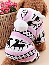 Cat Dog Hoodie Clothes/Jumpsuit Pajamas Dog Clothes Cute Keep Warm Christmas Reindeer Gray Brown Blue Pink