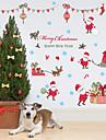 크리스마스 / 패션 / 휴일 벽 스티커 플레인 월스티커 / 거울 벽스티커 데코레이티브 월 스티커,PVC 자료 이동가능 홈 장식 벽 데칼