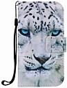 Pour samsung galaxy s7 bord s7 boitier couverture blanc leopard peinture pu telephone cas s5 s4 s3