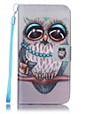 For Samsung Galaxy S7 edge S7 Card Holder Wallet with Stand Case Full Body Case Owl Hard PU Leather S6 edge S6 S5