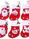 12pcs Christmas Stocking Christmas Ornaments and Party Decoration(Style Random)
